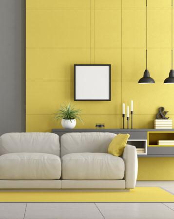 Salon design et cuisine moderne