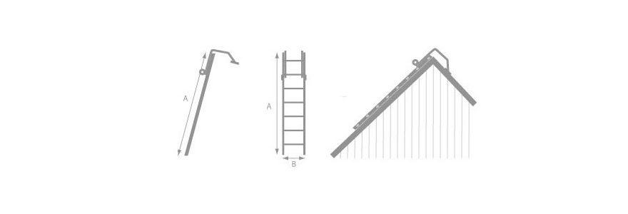 échelle pour un artisan couvreur de toits
